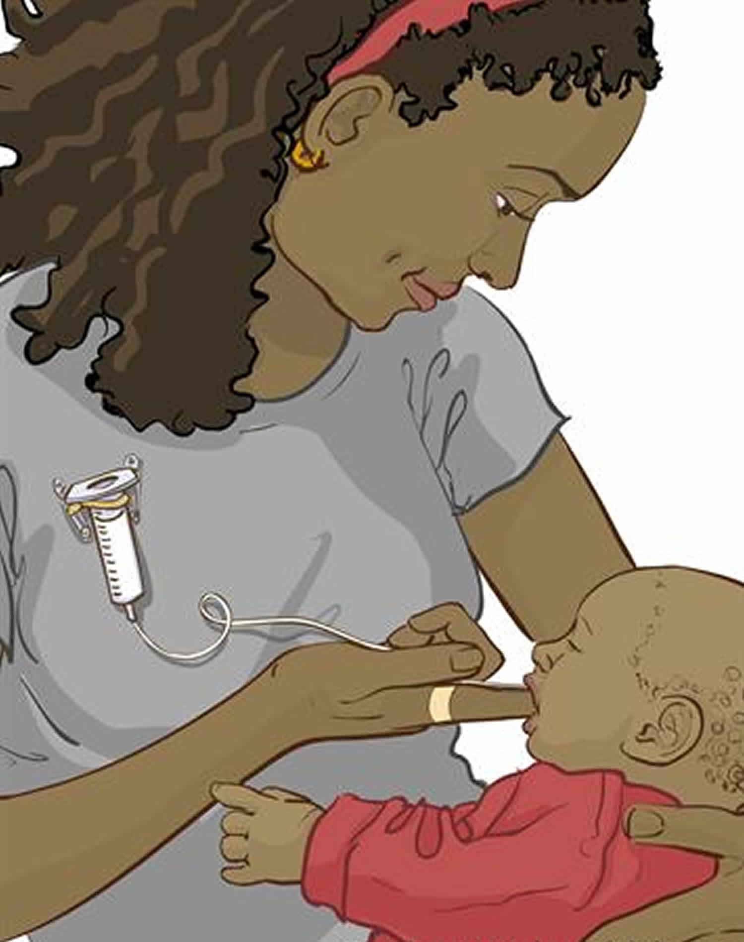 Finger-feeding using a syringe